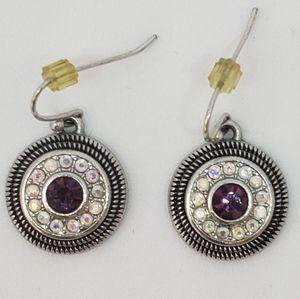 LIA SOPHIA Garnet Silver Earrings